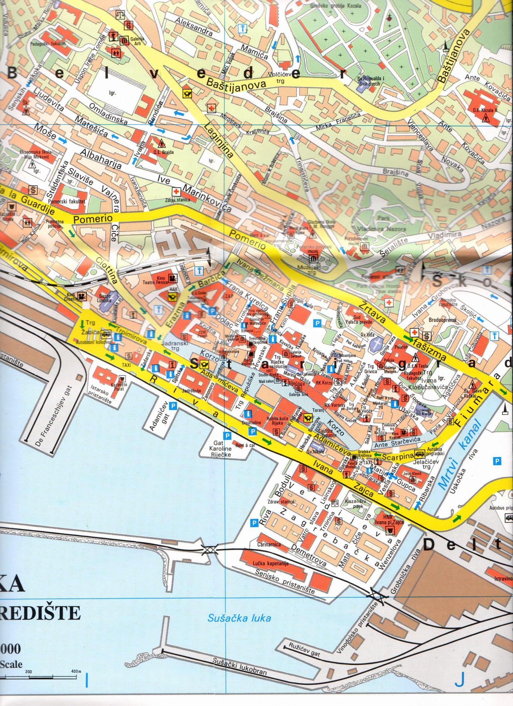 Rijeka térkép mintakivágat