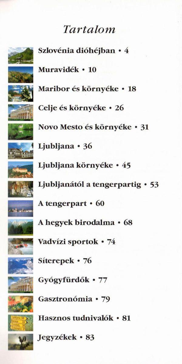 Szlovénia: tartalomjegyzék