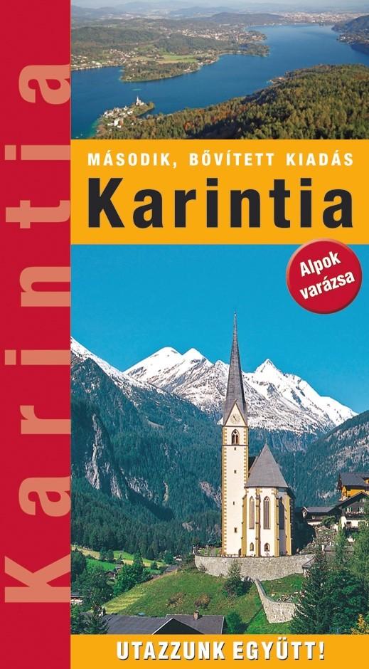 Zsebméretű Karintia útikönyv 19 térképpel, 250 fényképpel (2018)