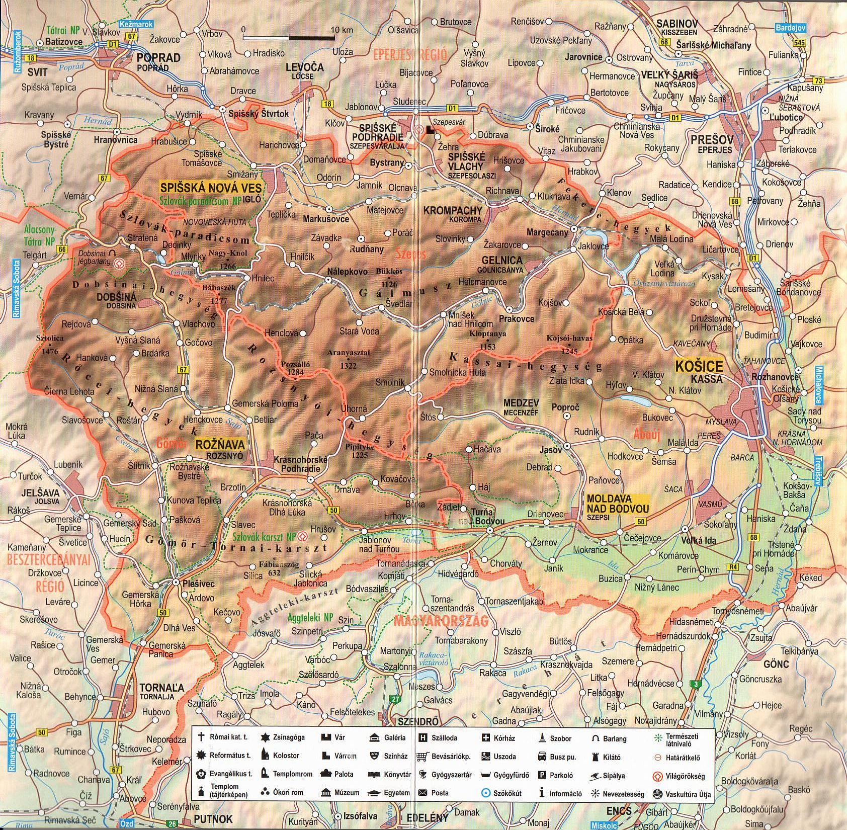 Kassa régió térkép minta