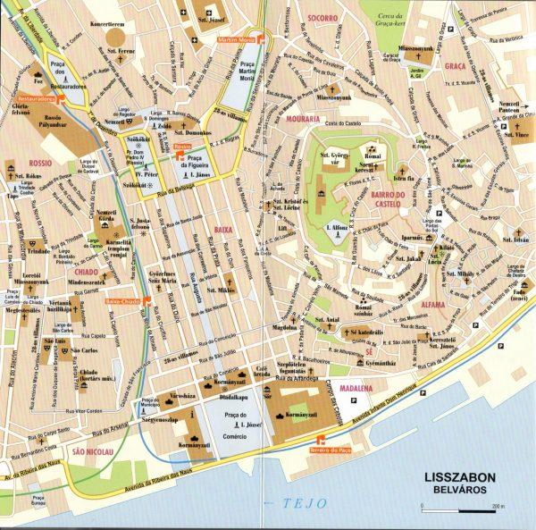 Lisszabon és környéke térkép minta