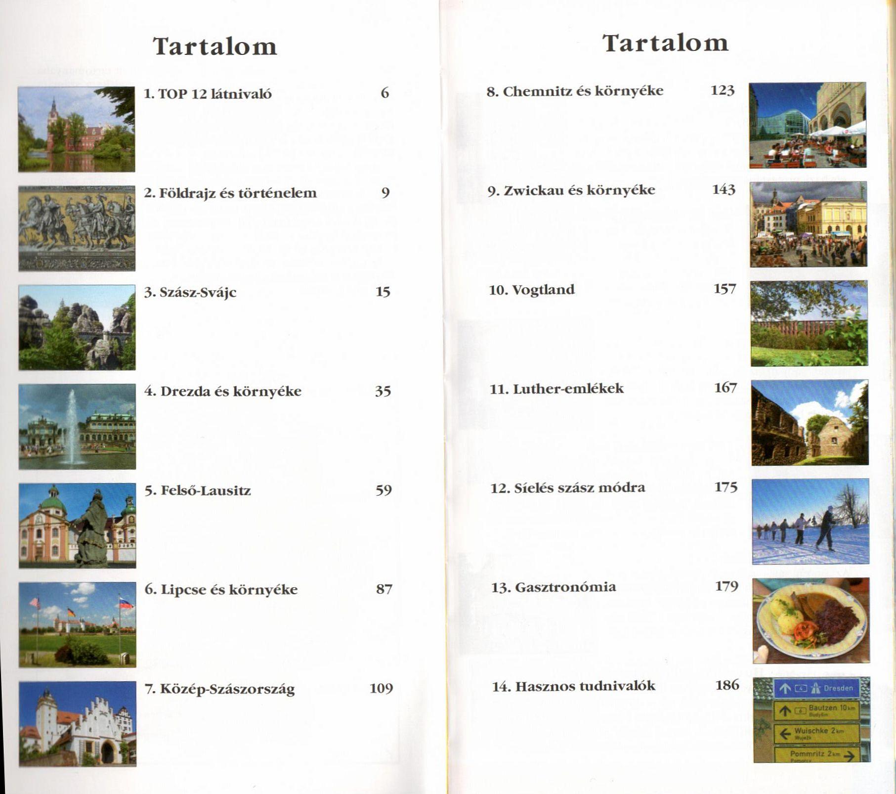 Szászország tartalomjegyzék