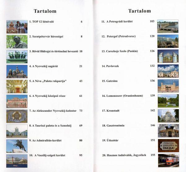 Szentpétervár tartalomjegyzék