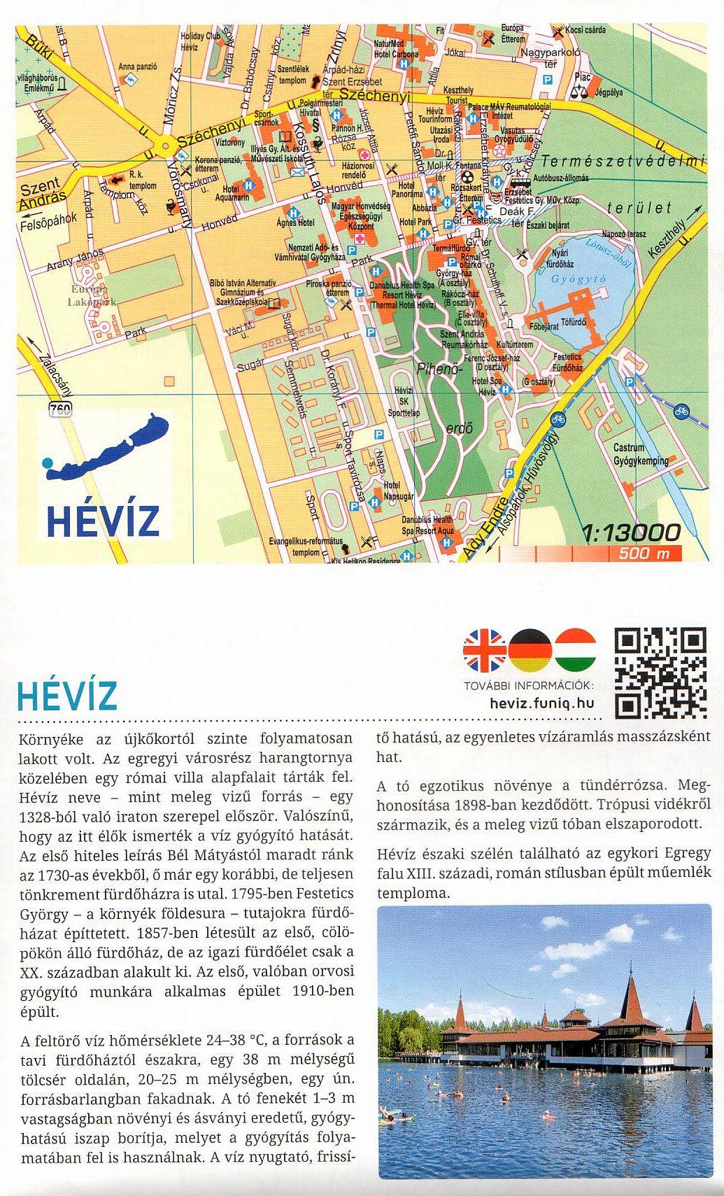 Balaton szabadidőtérkép:Hévíz melléktérkép