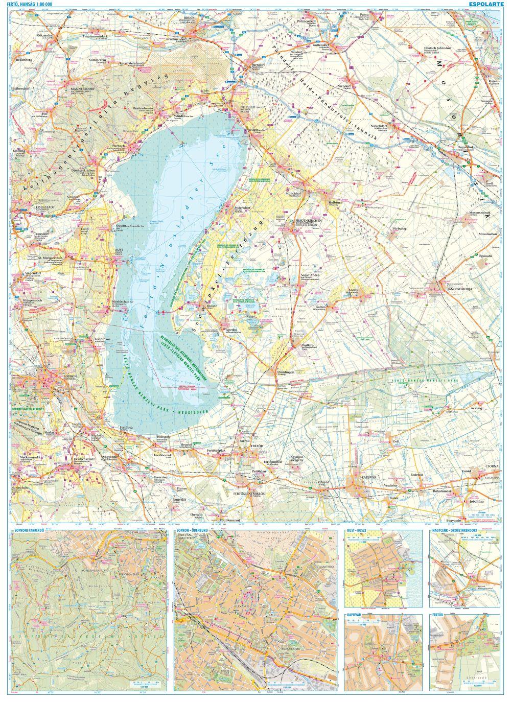 A Fertő-Hanság térkép által lefedett terület