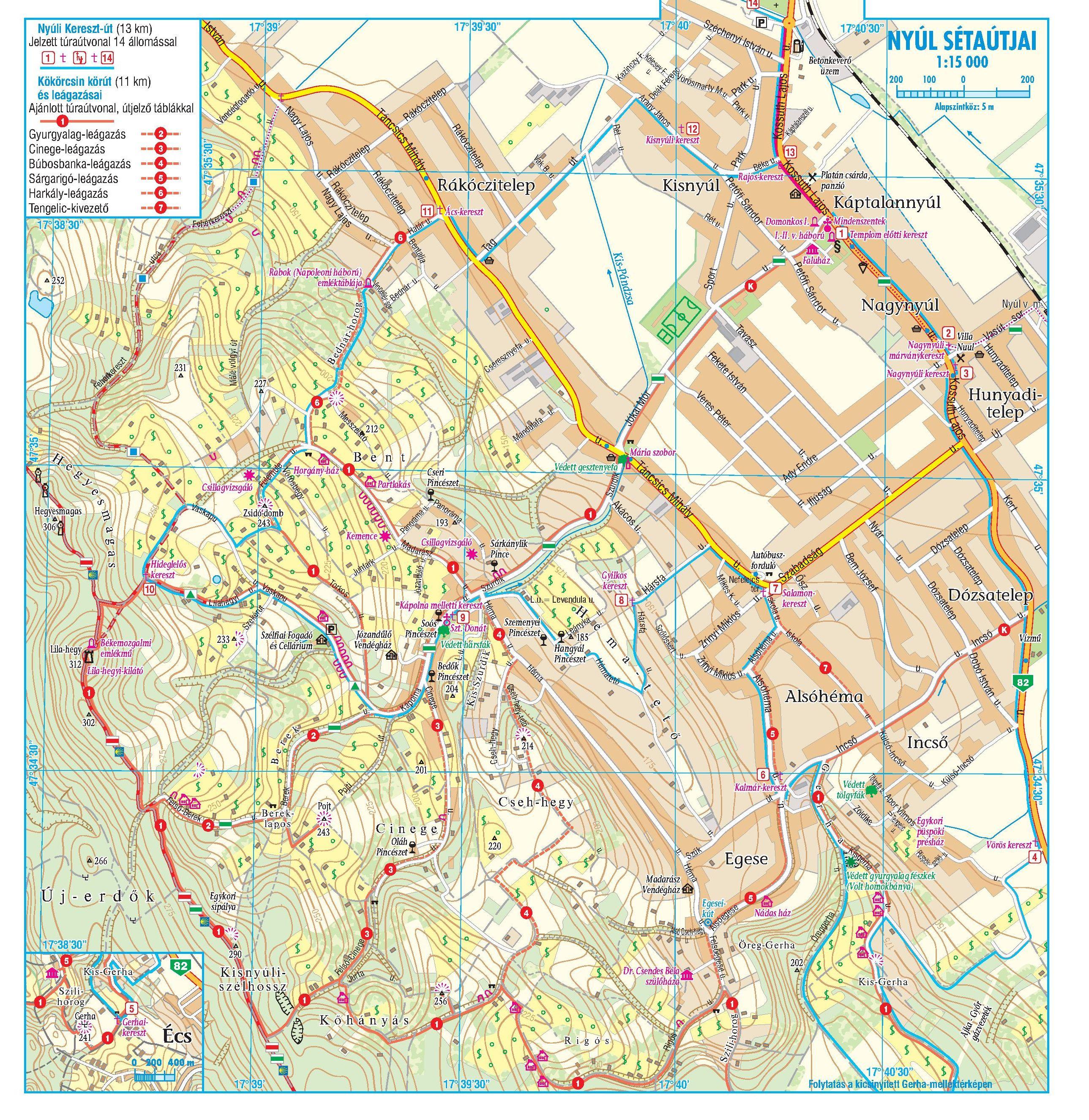 Sokoró/Cuha-völgye: Nyúl sétaútjai melléktérkép