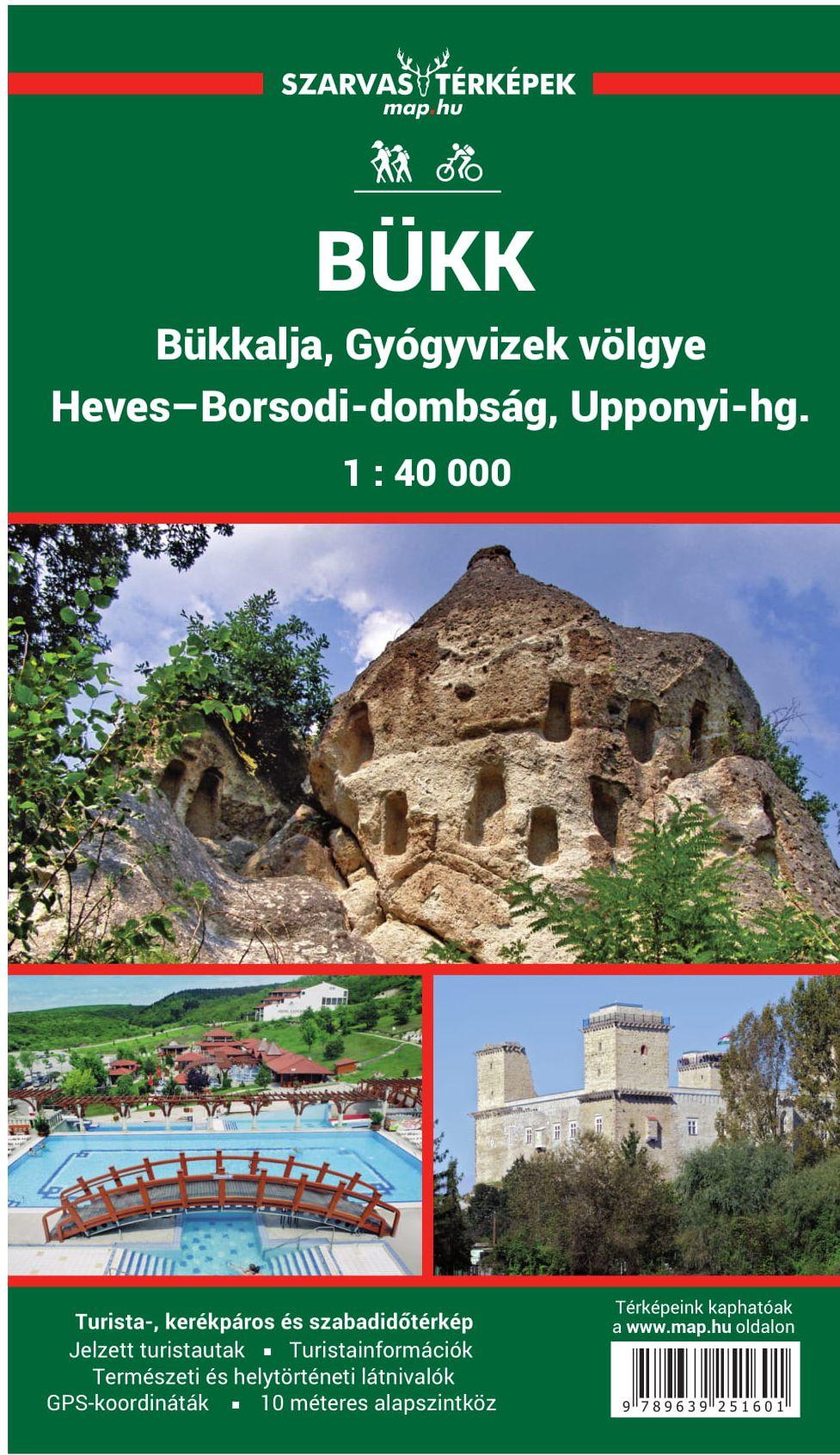 Bükk, Bukkalja, Heves-Borsodi-dombság, Upponyi-hegység, Gyógyvizek-völgye turista-, biciklis térkép Minden, ami Bükk: http://bukk.lap.hu/