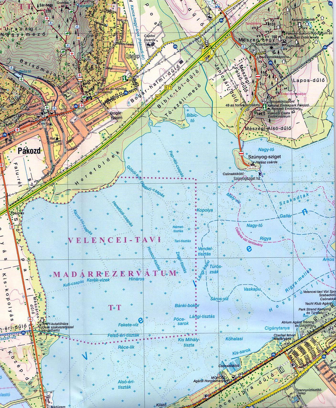 Velencei-tó / Velencei-hg. mintakivágat 1:25.000