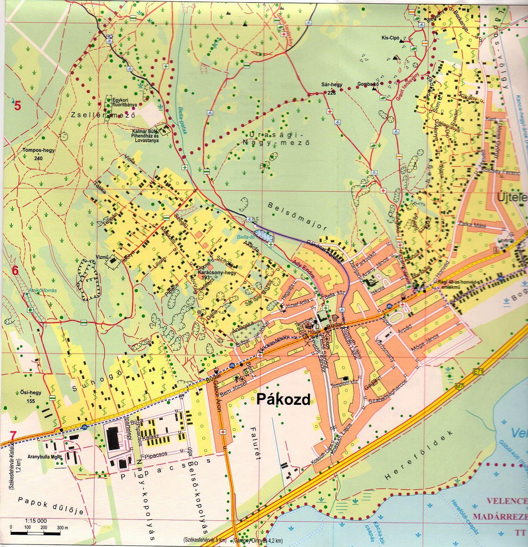 Velencei-tó / Velencei-hg.várostérkép minta 1:15.000