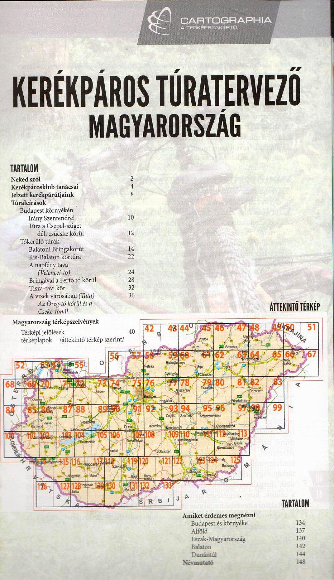 Kerékpáros túratervező: tartalomjegyzék