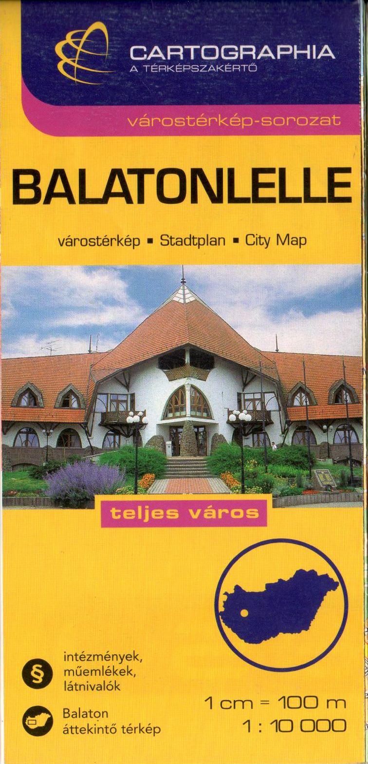 Balatonlelle várostérkép névmutatóval és utcajegyzékkel