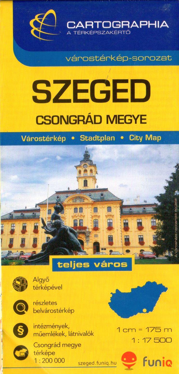 Szeged és Algyő utca- és nevezetességjegyzékkel + Csongrád megye autós- és biciklis térképe