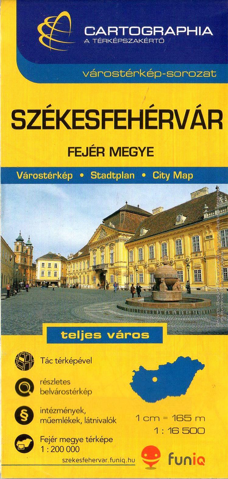 Székesfehérvár és Tác + Fejér megye autós- és biciklis térképe turista információkkal