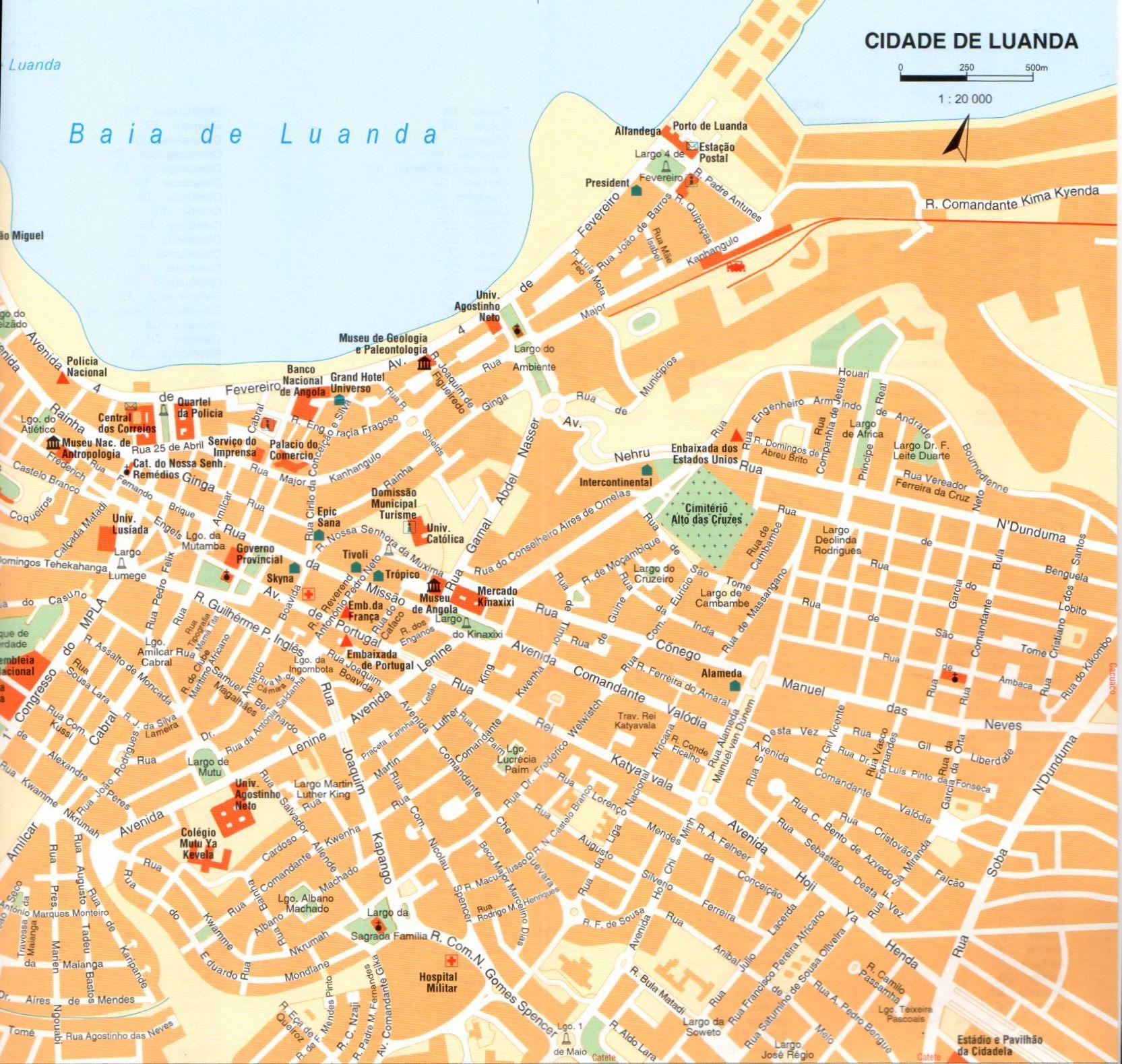 Luanda várostérkép mintakivágat