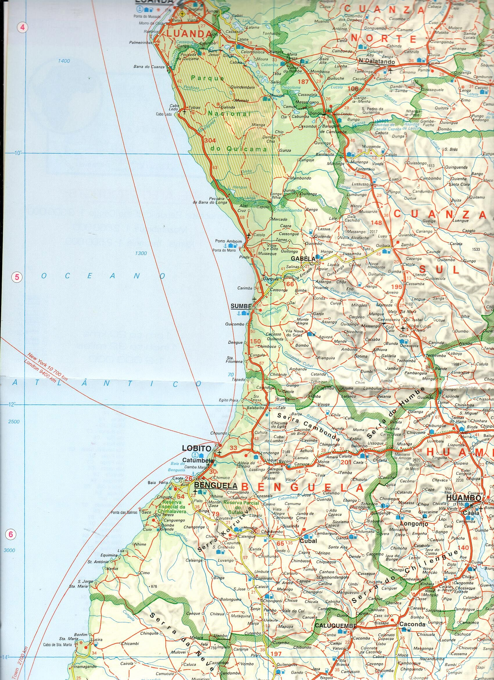 Angola mintakivágat 1:2mió