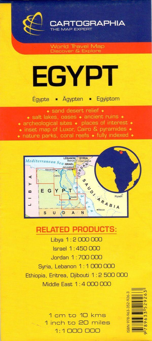 Az Egyiptom térkép által lefedett terület