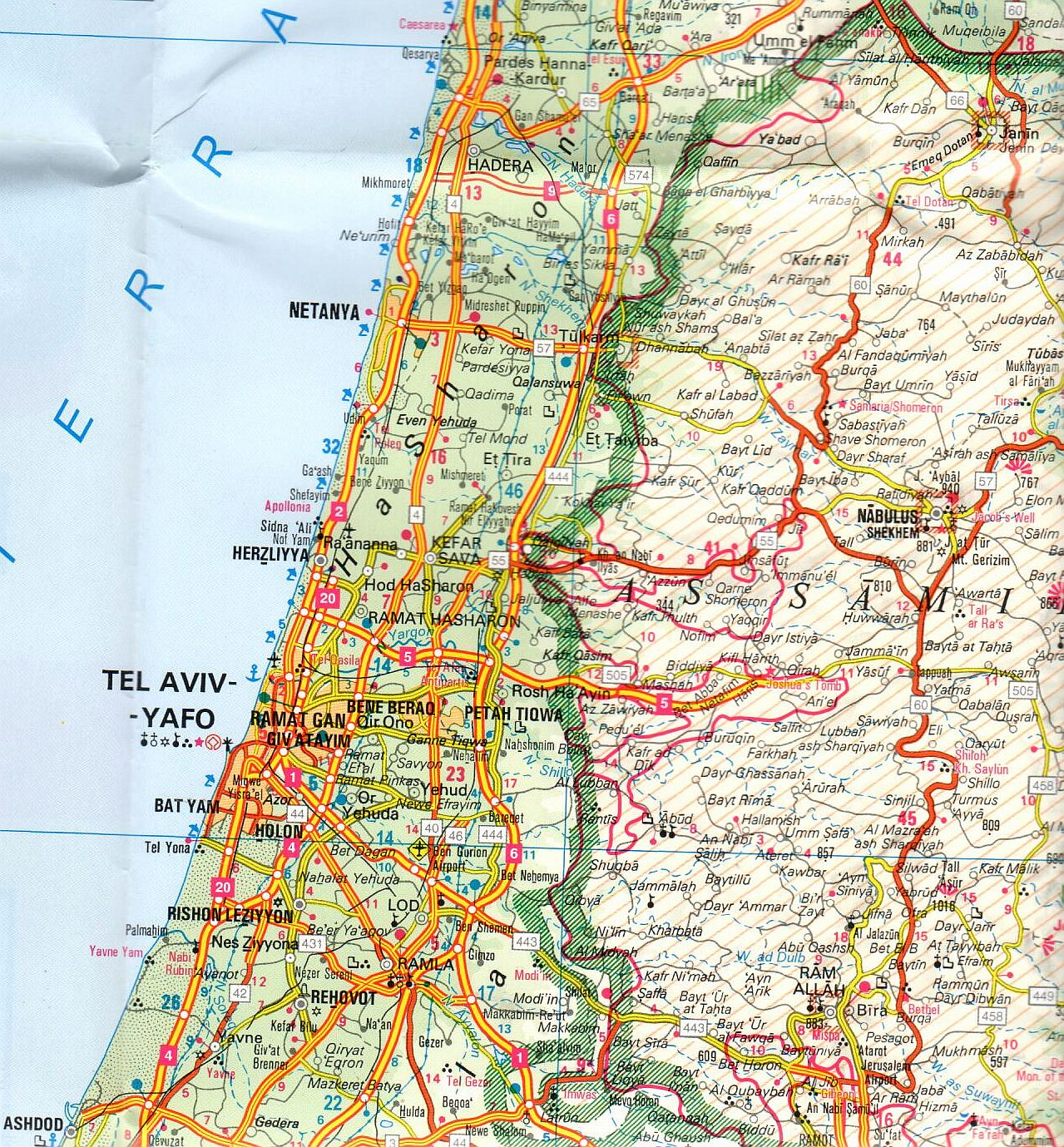 Izrael 1:450.000 mintakivágat