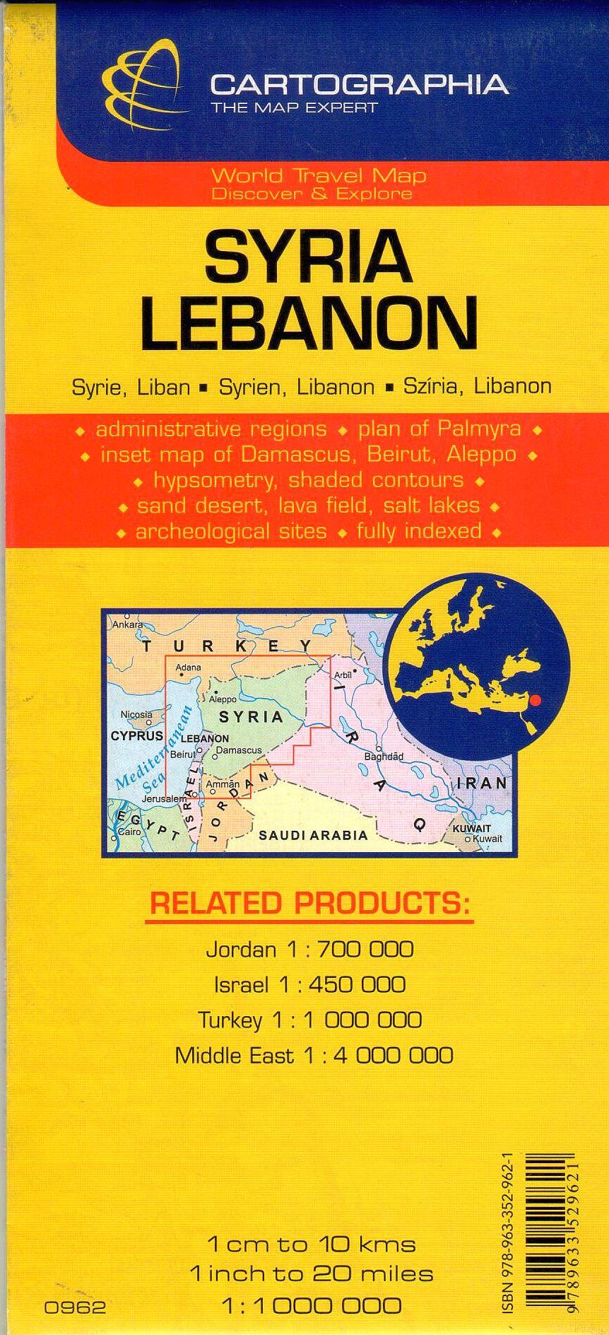 A Szíria Libanon térkép által lefedett terület