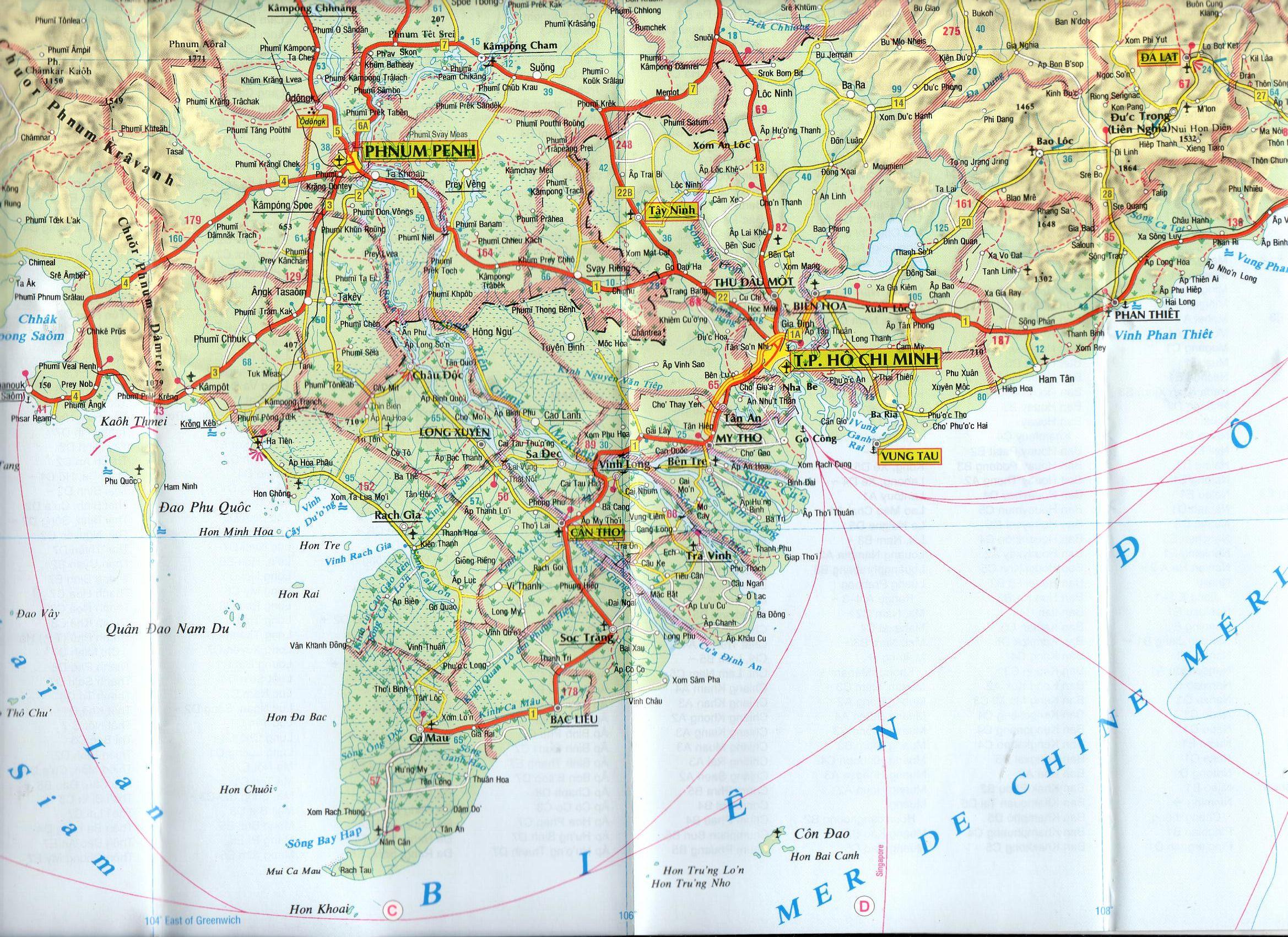 Vietnam, Kambodzsa, Laosz mintakivágat
