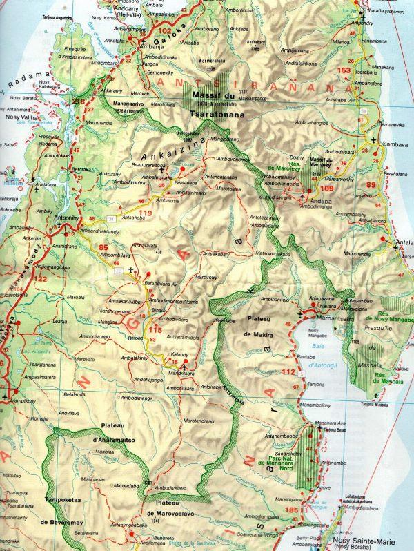 Madagaszkár mintakivágat 1:2.000.000