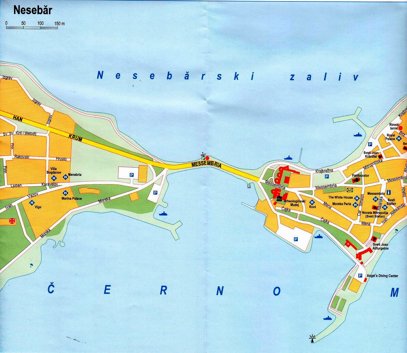 Bulgária Neszebár térkép mintakivágat