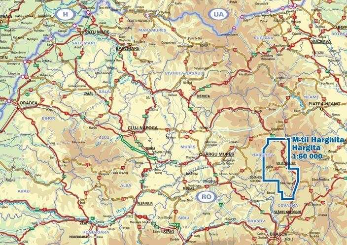 Hargita a térképen