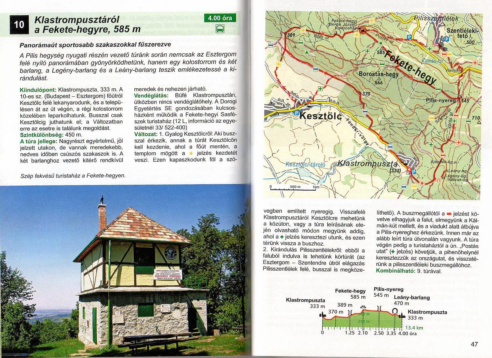 Dunántúl útikönyv. mintalap 2