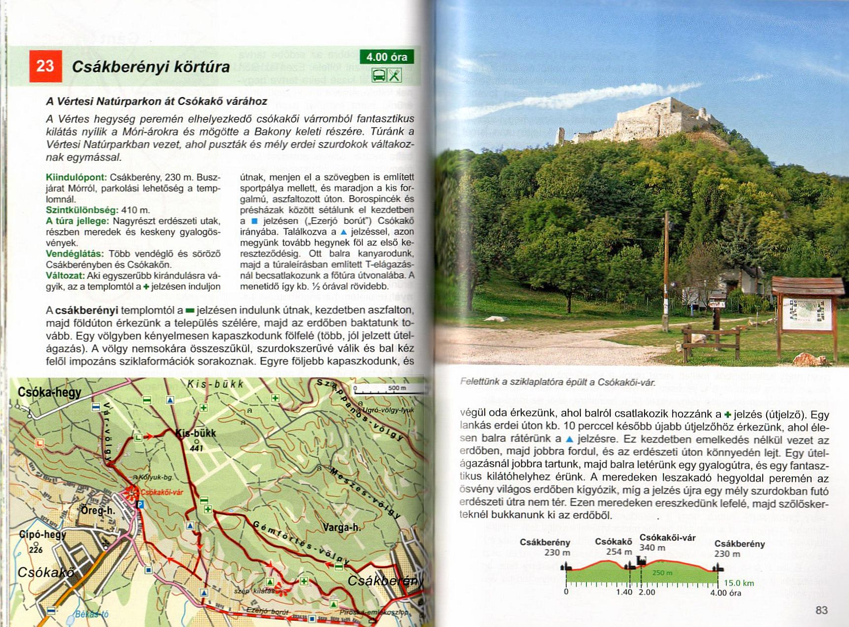 Dunántúl útikönyv. mintalap 1