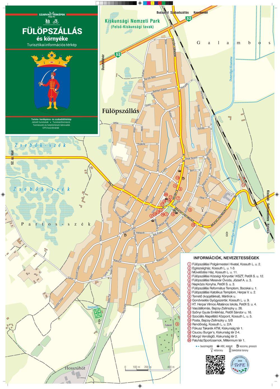 A Fülöpszállás várostérkép által lefedett terület