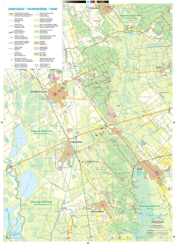 A Fülöpszállás környéke térkép által lefedett terület