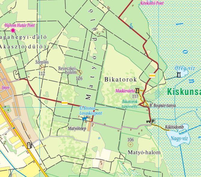 Fülöpszállás környéke 1.50.000 mintakivágat