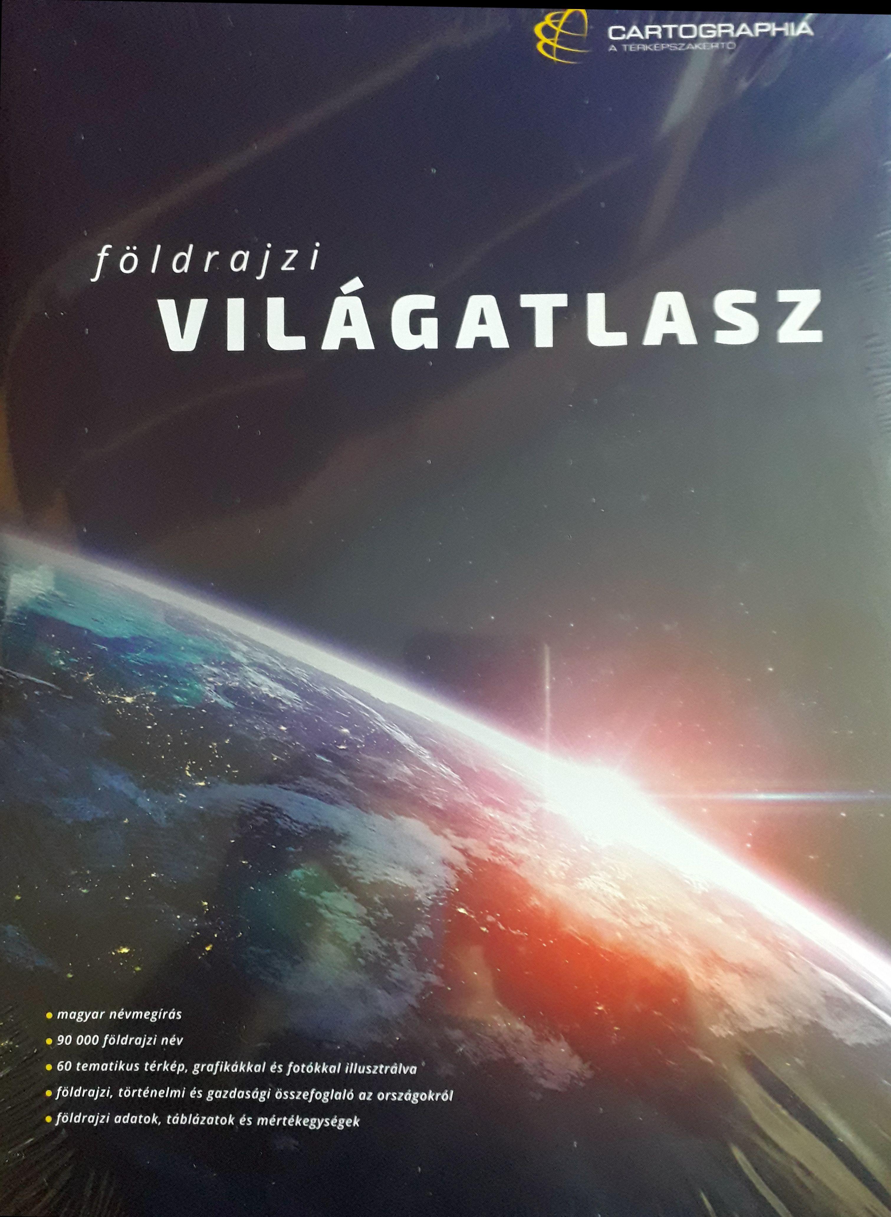 416 oldalas (25 x 35 cm, cérnafűzött keménytáblás)nagy világatlasz teljesen magyar névrajzzal