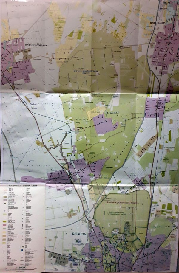 A Nagyerdő térkép által lefedett terület