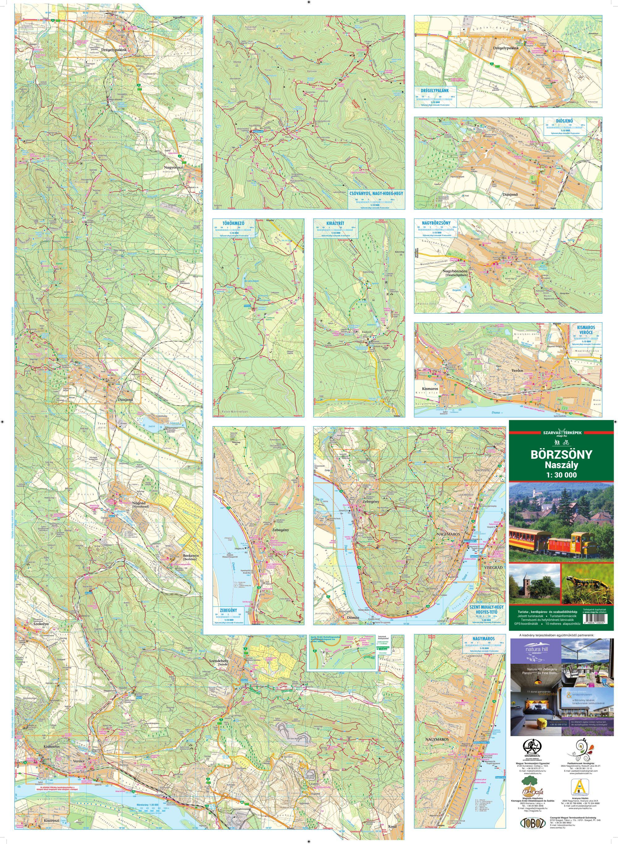 Börzsöny B oldal által lefedett terület