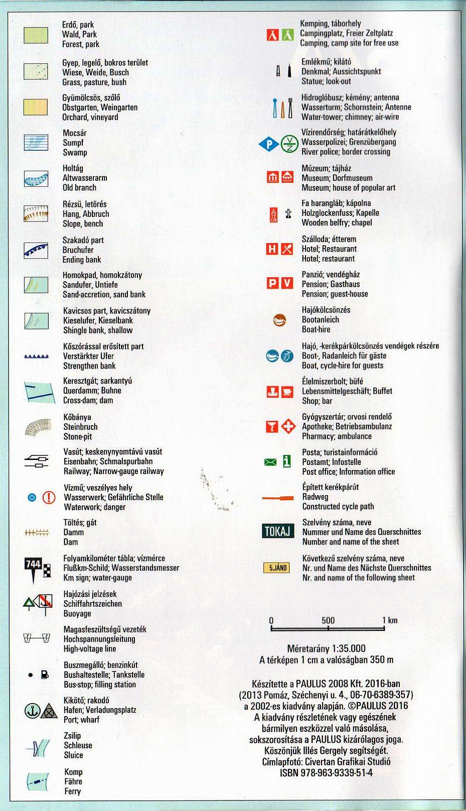 Tisza 745-537 (Tiszabecs-Tokaj): jelmagyarázat