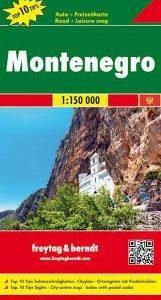 Montenegró részletes autótérképe turista információkkal, fényképekkel és névmutatóva