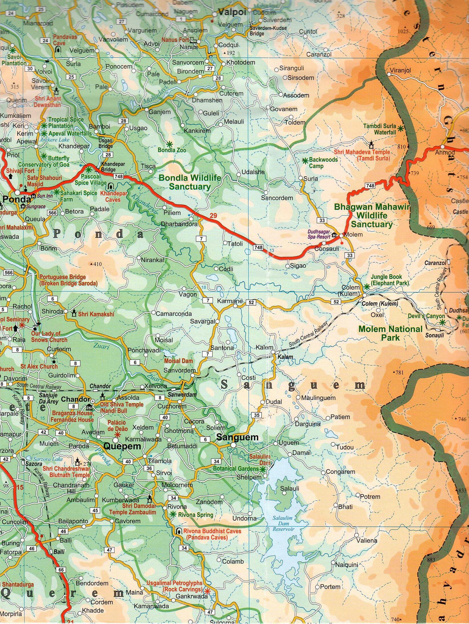 Goa térkép mintakivágata