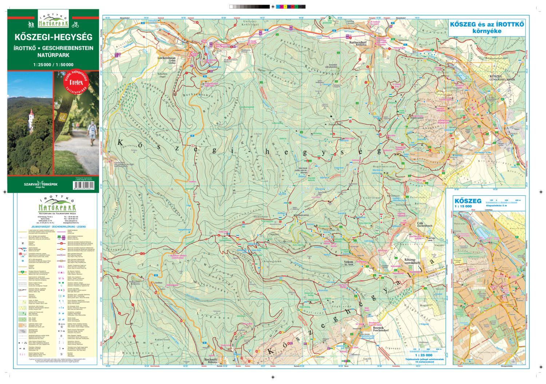 A Kőszegi-hegység 1:25e térkép által lefedett terület