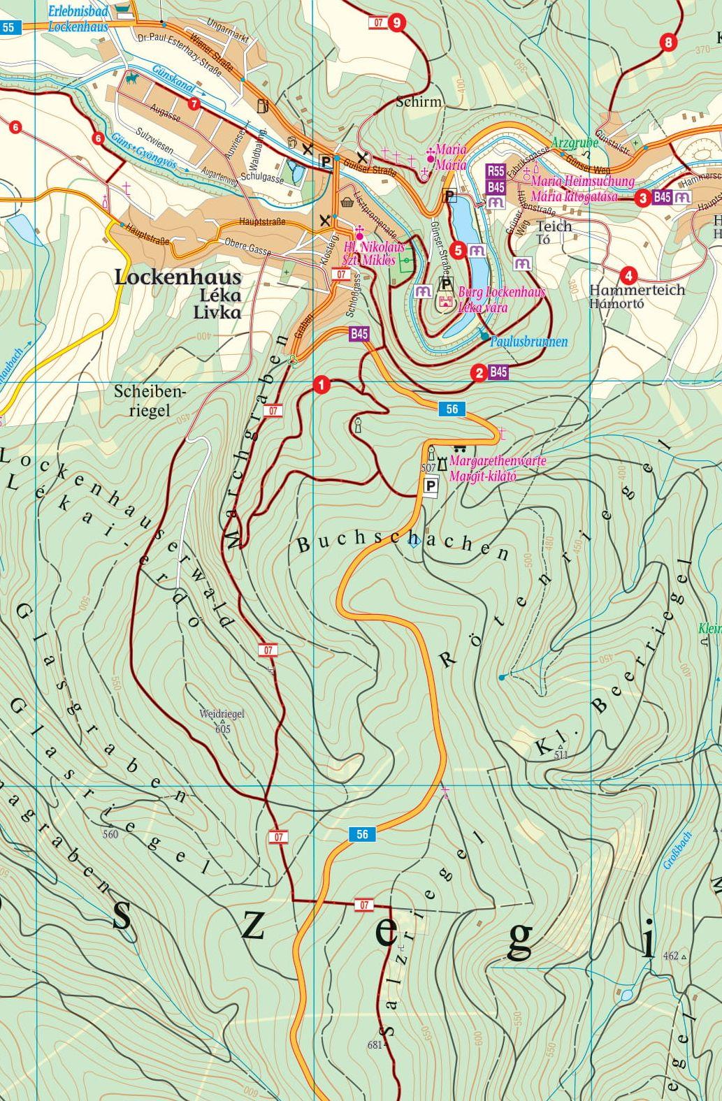 Kőszegi-hegység 1:25.000 mintakivágat