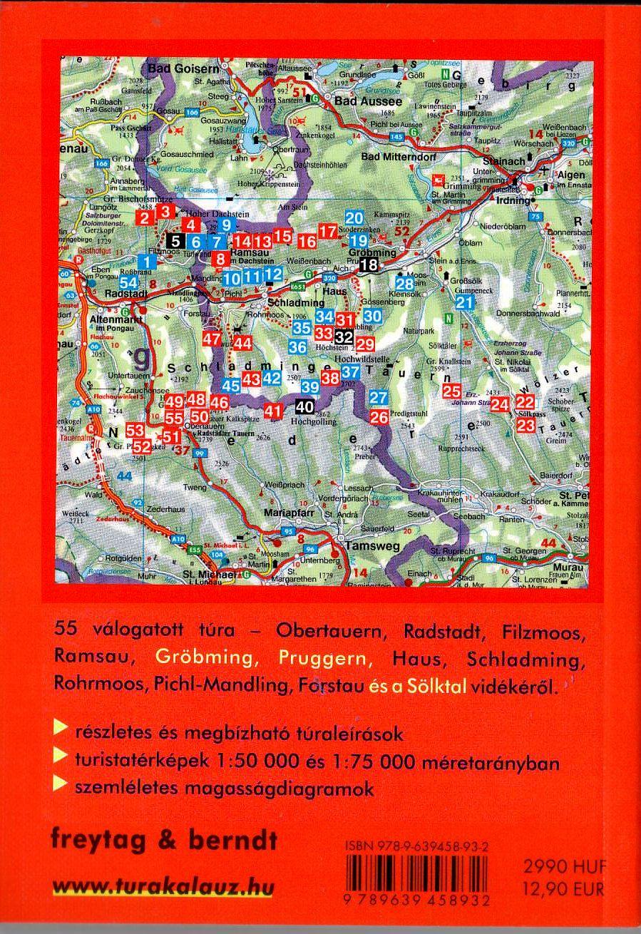 A Dachstein-Tauern áttekintő térképe