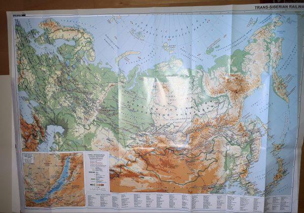 A Traszszibériai vasútvonal térkép által lefedett terület