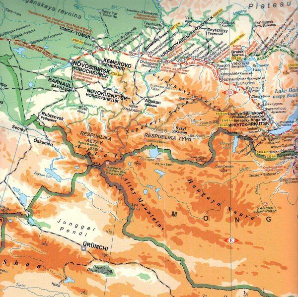 Traszszibériai vasútvonal mintakivágat