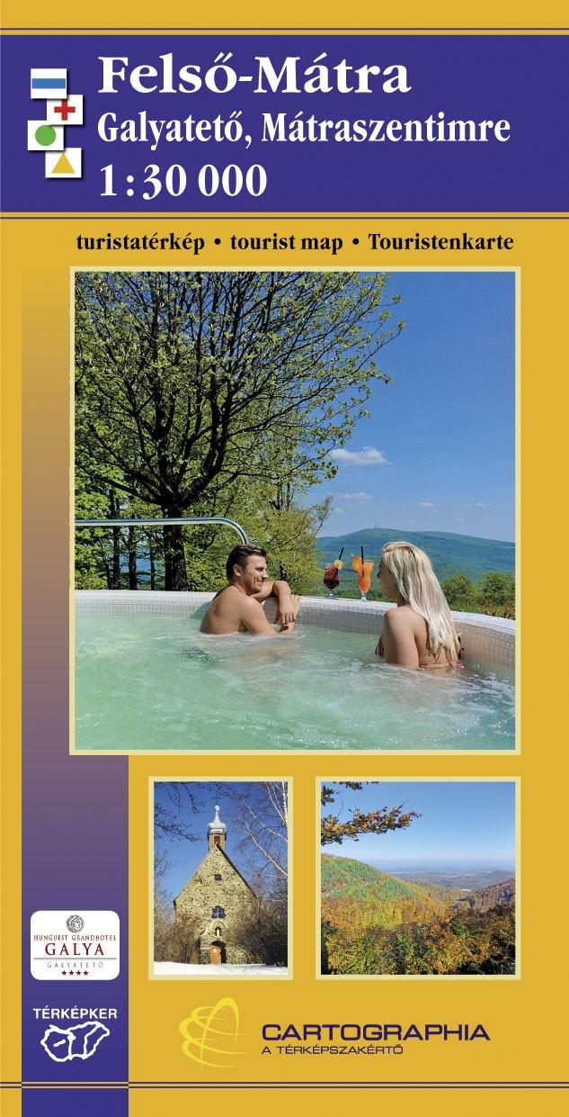 Felső-Mátra (Galyatető, Mátraszentimrel és környéke) részletes turistatérkép fényképes szállásajánlatokkal, túrautakkal