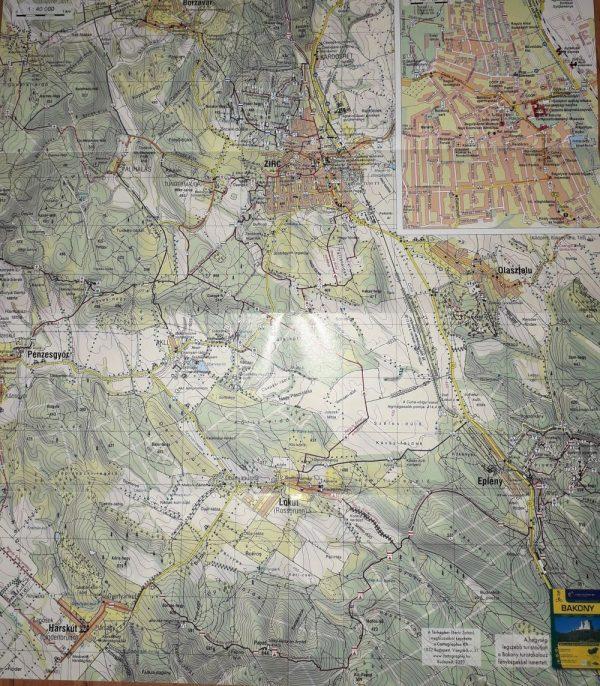 A Zirc környéke térkép által lefedett terület