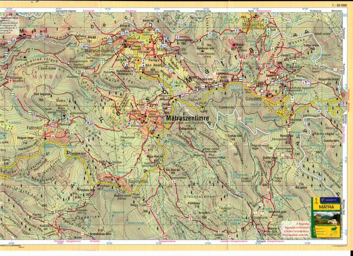 A Felső-Mátra térkép által lfedett terület