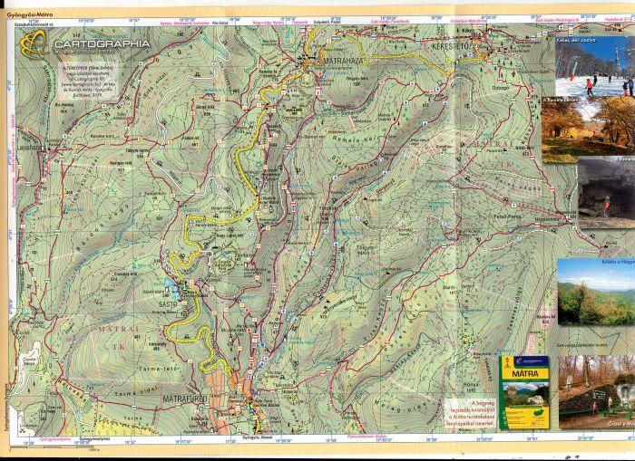 A Kékestető-Mátrafüed térkép által lefedett terület