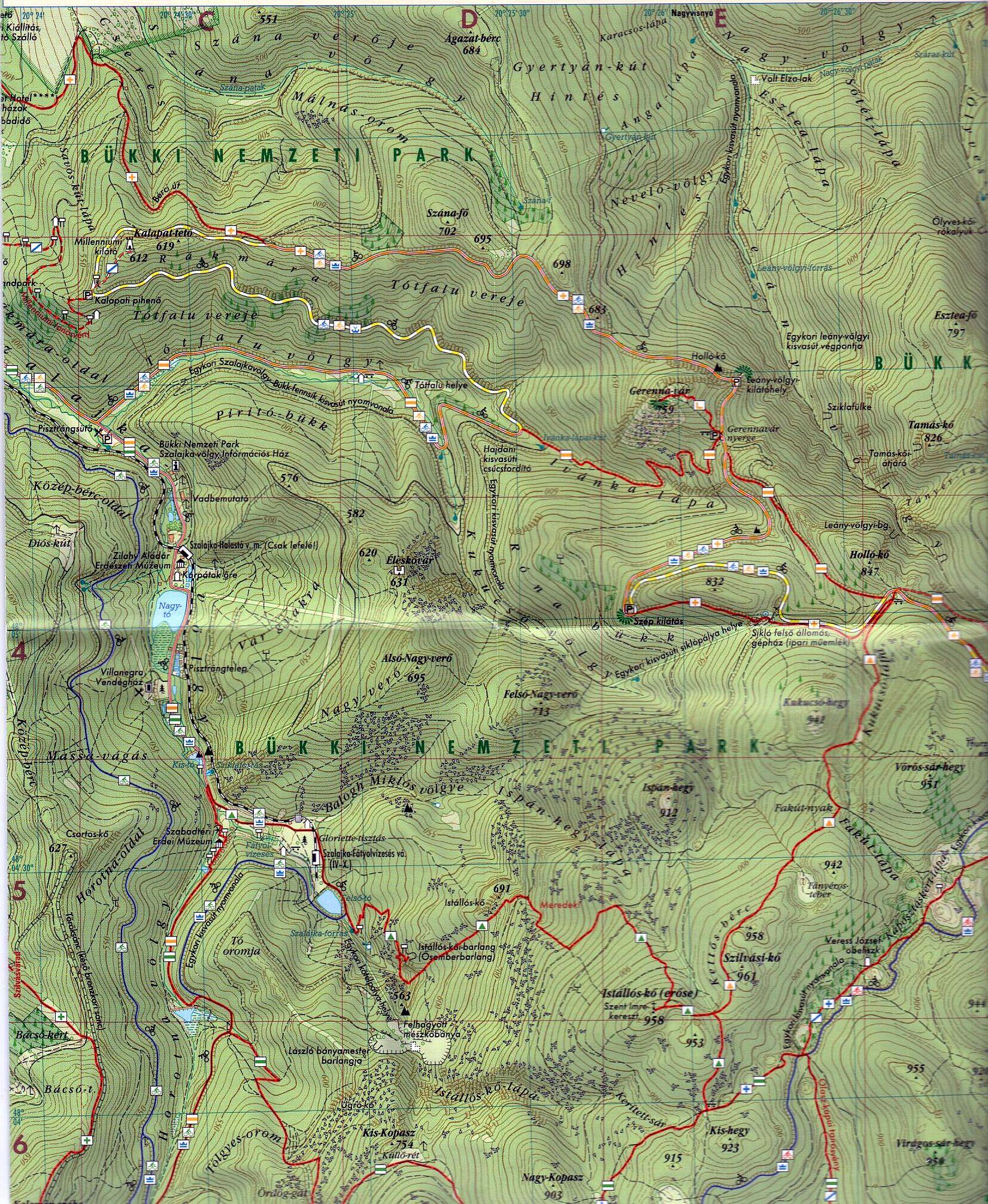 Szilvásvárad-Bánkút térkép mintakivágat