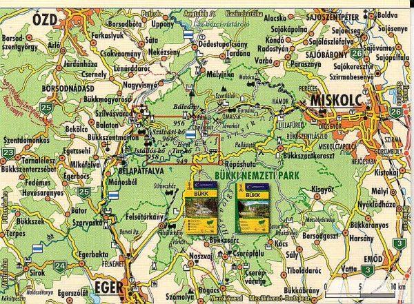 Szilvásvárad és környéke áttekintő térkép