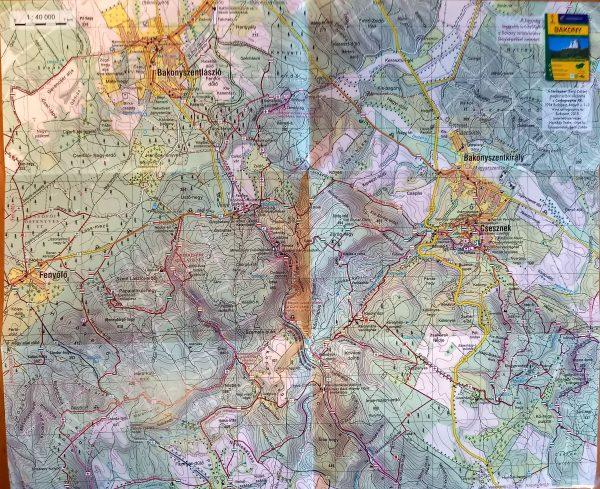 Vinye, Cuha-völgy térkép által lefedett terület