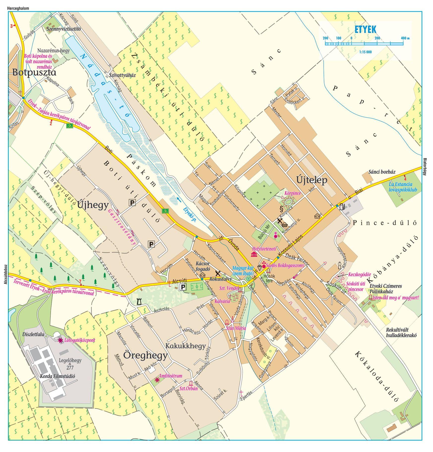 Zsámbéki-medence/Etyeki-dombság: Etyek 1:15.000